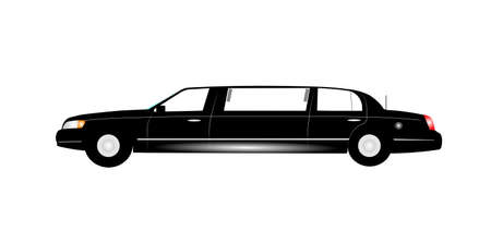limo: stretch limo in black Illustration