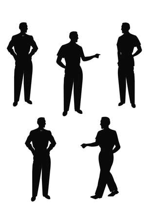 males posing in silhouette