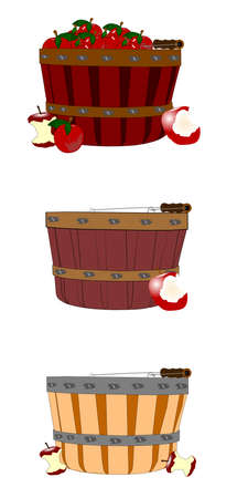 apple harvest time concept Vector