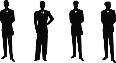 dapper: silhouette of retro men