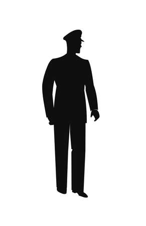 enforcement: policeman in silhouette Illustration