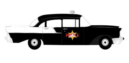 vintage fifties police car