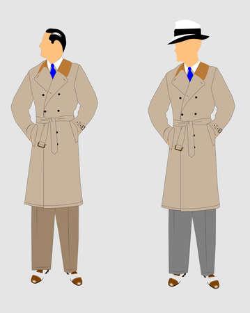 investigator: detectives in trenchcoats