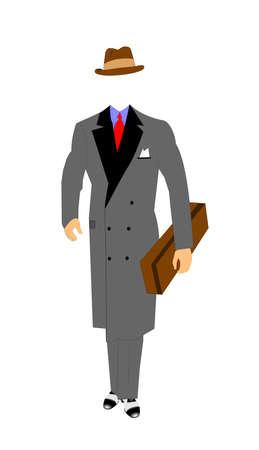 carrying box: hombre cuadro de flores que lleva Vectores