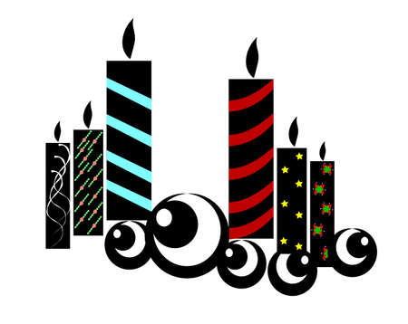 christmas candles concept Vector
