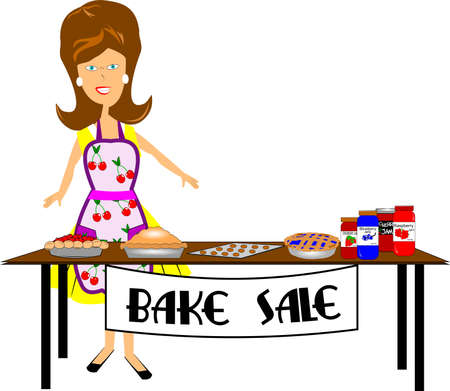 bake sale  Stock Illustratie