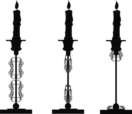 candlesticks silhouette for holidays and religious events