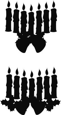 candle setting in silhouette 일러스트