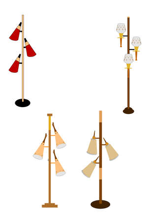 60's: sixties retro household pole lamps