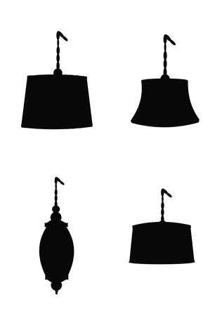60's: swag lamps templates