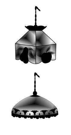 swag: swag lamps silhouette