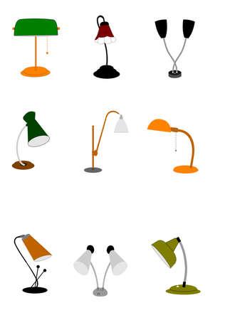 flexible: retro gooseneck lamps from sixties era