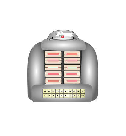 retro tabletop jukebox Vector