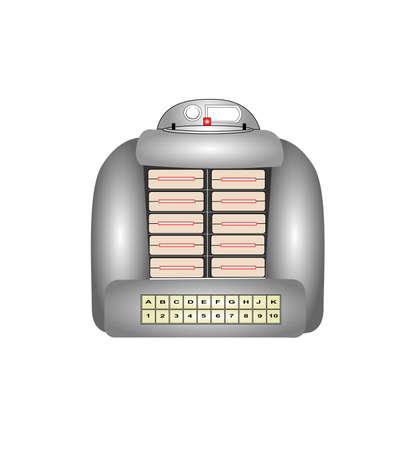 jukebox: retro tabletop jukebox Illustration