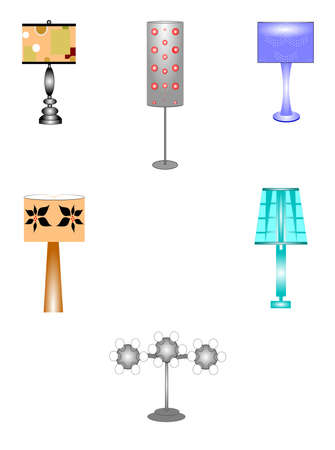 seventies: seventies household lamps set