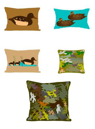 drakes: duck and camoflague pillows
