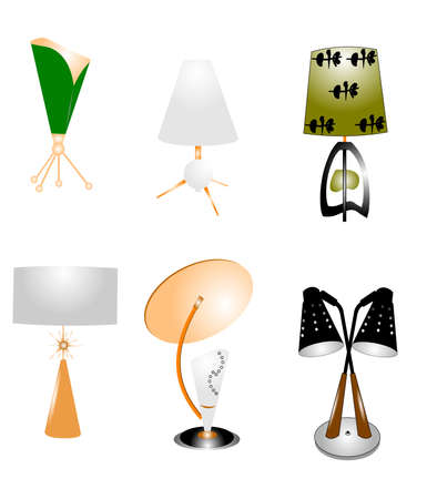 sputnik themed lamps from atomic age