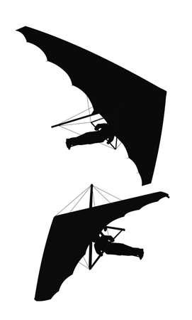 hang gliding: hang glider silhouettes