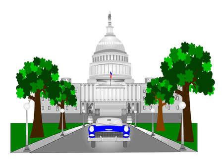 capitol hill: retro capitol hill building in dc
