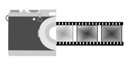 elvonult: retro fotózás koncepció Illusztráció