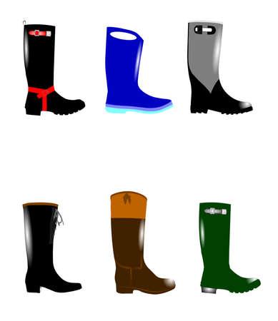 gumboots: rain boots set