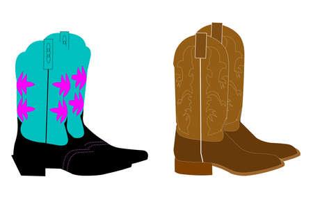 peasant woman: cowboy boots