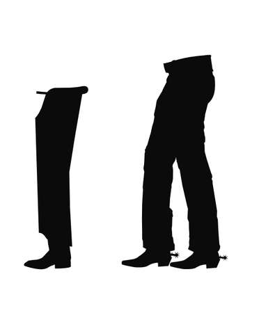 chaps in silhouette