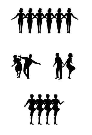 dance in silhouette
