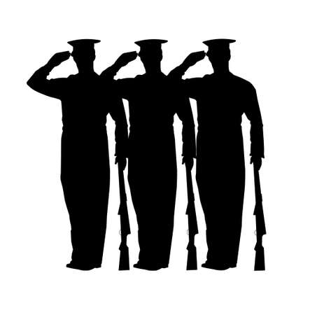 Salute: soldiers at attention
