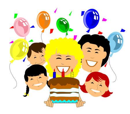 happy birthday to you   イラスト・ベクター素材