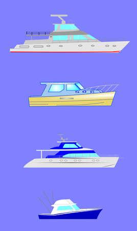 variety of fishing boats