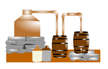 earthenware: moonshiners copper still