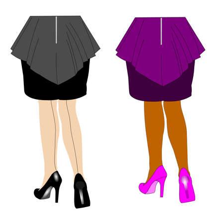 hosiery: Women heels Illustration