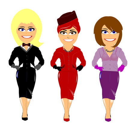 ladies in night dress Vector