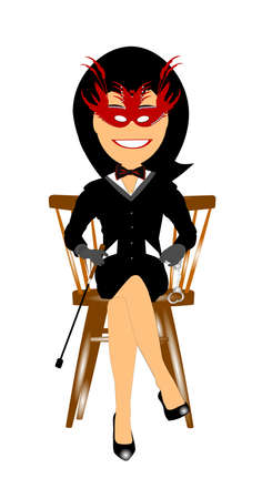 domme sitting in chair  Vector