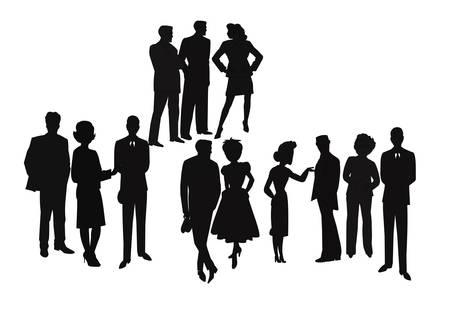 define: People meeting  Illustration