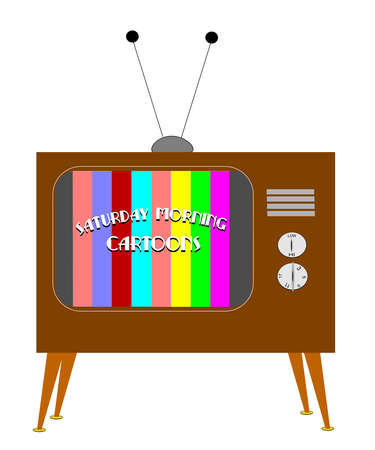 1955 TV 개념으로 토요일 아침 만화 채널