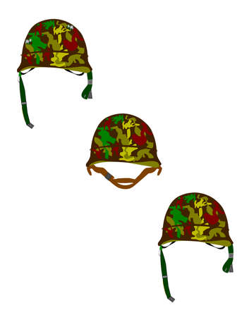 standard steel: army helmets in camo