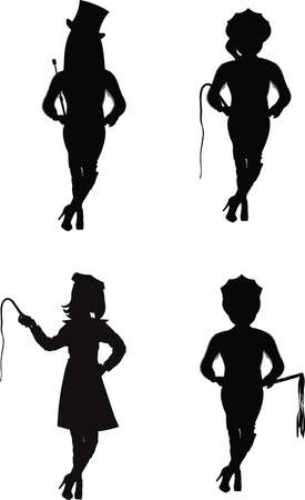 dommes in silhouette