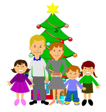 morals: retro family christmas