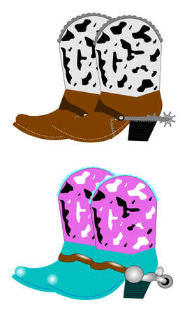 western attire: cowboy boots and spurs