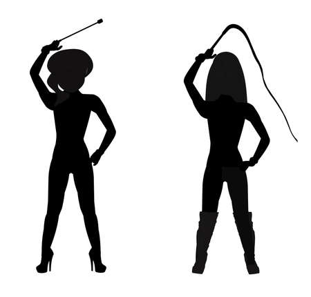 dommes in silhouette  Illustration