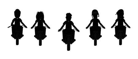 people on motorcycles silhouettes photo