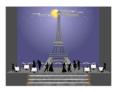 evening under the stars in Paris  photo