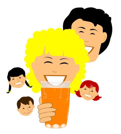 squeezed: glass of fresh squeezed  orange juice