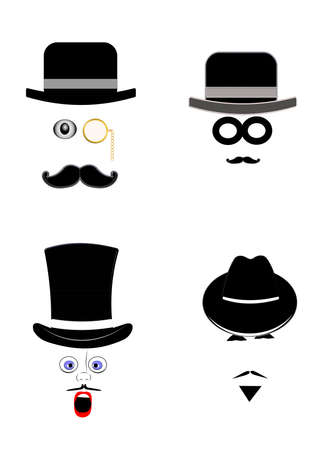 bowler hat: old men with hats and expressions