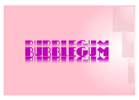 bubblegum achtergrond Stock Illustratie