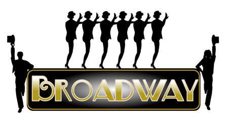 broadway background with chorus line  Standard-Bild