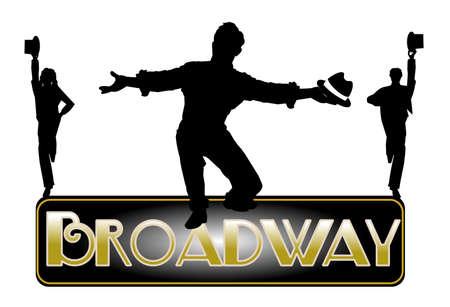 原則として男性ダンサーと broaway 背景