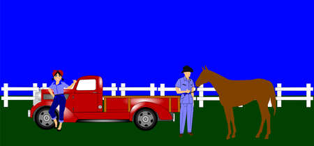 reins: country folks background